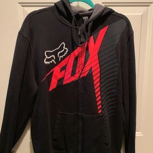 FOX Black zip up hoody